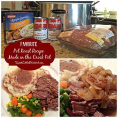 Favorite Pot Roast Recipe - Made In The Crock Pot (cooking chuck roast in crock pot) Pot Roast Recipes, Beef Recipes For Dinner, Slow Cooker Recipes, Crockpot Recipes, Cooking Recipes, Kitchen Recipes, Game Recipes, Crockpot Dishes, Cooking Games