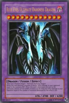 Blue eyes ultimate darkness dragon