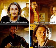 Hahaha! From X-Men: Days of Future Past. This is one of the best scenes of the movie! LOVE this movie!