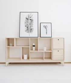 a scandinavian, plywood tv bookcase / cabinet / console. * designed by Wood Republic FUZZLE is a multidimensional tv cabinet made of units - the number possible combinations of. Plywood Furniture, Furniture Design, Cheap Furniture, Furniture Online, Discount Furniture, Luxury Furniture, Furniture Nyc, Furniture Websites, Furniture Dolly