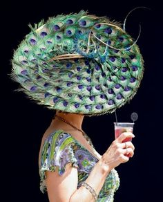 One of the Best Hats Ever! You look fabulous in Peacock...