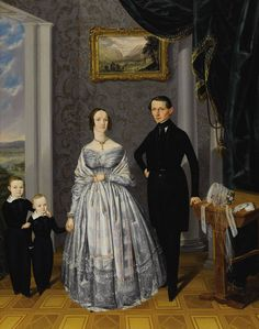A Family Portrait, Czechoslovakia, mid 19th Century by Alois Spulak