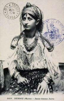 Jeune femme Juive of Debdou, a Gypsy woman. (Perhaps sepia, not sure) Jewish History, Jewish Art, Bohemian Gypsy, Gypsy Style, Hippie Style, Des Femmes D Gitanes, Arte Cholo, Costume Ethnique, Gypsy Women