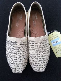 Jane Austen's Pride and Prejudice Custom Made Shoes by BRINKADINK