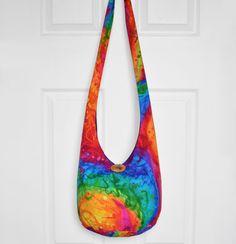 Hobo Bag Boho Bag Hippie Purse Cross Body Bag Sling by Hippie Purse, Hippie Bags, Boho Bags, Hobo Crossbody Bag, Unique Bags, Crochet Baby Booties, Cotton Bag, Bohemian, Purses