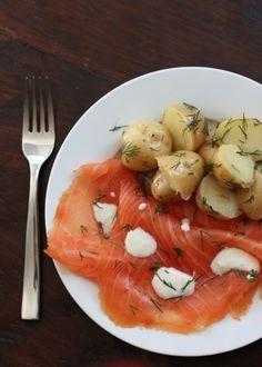 smoked salmon & potatoes