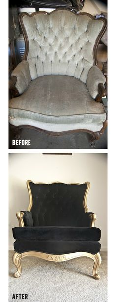 Chair Makeover  #diy #beforeafter