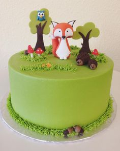 Woodland Diorama baby shower cake. #stuffedcakes #customcake #diorama #woodlandbabyshower by Stuffed Cakes StuffedCakes.com Custom Cakes | Seattle, WA, USA