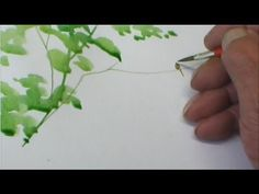 ▶ (Part 1) Pro: Watercolour tutorial. Doodling Realistic TREES - YouTube