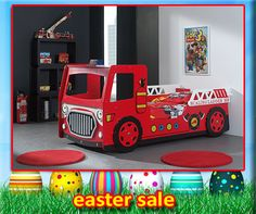 What little boy or girls would love a fire truck car bed? Drive the fire engine to put the fire out with all light flashing. They will love the Modern Fire Engine Car Bed in red hot red colour. Kids Truck Bed, Fire Truck Nursery, Bed Company, Car Bed, Bed Lights, Bed With Drawers, Childrens Beds, Fire Engine, Baby Cribs