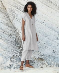 d9b4d5967ea Poetry - Relaxed linen tunic - This longer length tunic style top is in our  cross