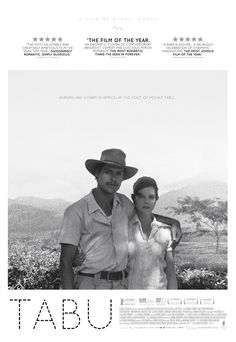 Tabu (Miguel Gomes, 2012) One sheet design by Carnival Studio