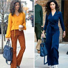 Mais duas produções que me encantaram, também de inspiração para o fim de semana! Os looks da Camila Alves para eventos em Nova York, durante o dia. Primeiro uma produção setentista, sofisticada. Depois uma combinação de roupão simples chique com a mesma bolsa azul, rústica e o toque fashion dos oxfords brancos, incríveis.⭐ #beautiful #camilaalves #fashionstyle #inspirations #newyork #events