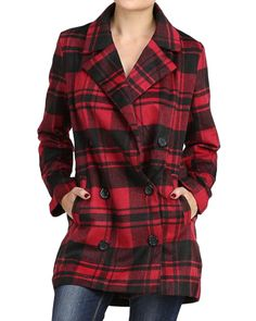 Plaid Double Breasted Jacket from The Shopping Bag