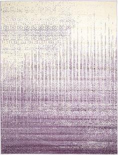 Purple Modern Tri-Color Area Rug