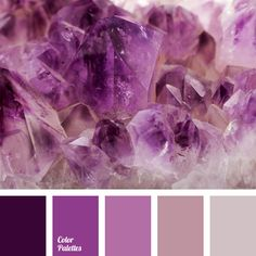 Monochrome range of shades of amethyst. This color scheme can be used in selection of combinations of accessories, jewelry; this color scheme can be used in the women's evening wardrobe and can be interesting for the decoration of theme parties.