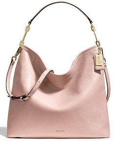 Rethink pink this Spring with the Coach Madison Hobo