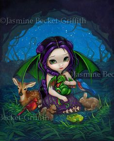 Dragon Fairy Pictures:  Dragonling Garden III by Jasmine Becket-Griffith