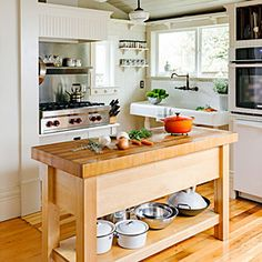Bright, airy kitchen space