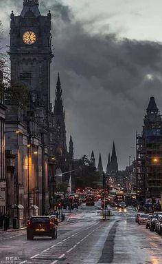 Invierno tormentoso, Edimburgo, Escocia.
