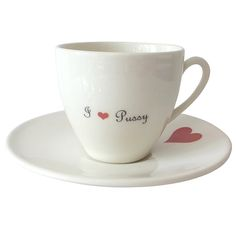I Heart... Tea Cup & Saucer on AHAlife