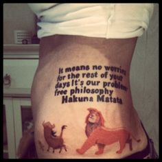 Lion King fan not messing about