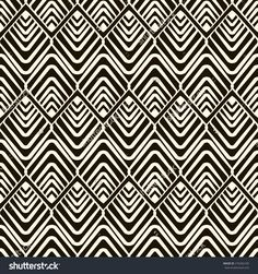 Vector seamless pattern, modern stylish texture. Repeating geometric tiles.
