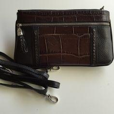 Brighton crossbody wallet/purse Like new black pebble grained wallet Brighton Bags Wallets