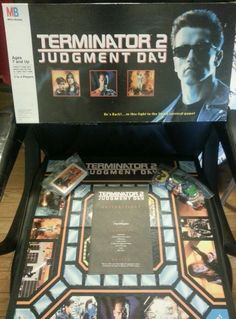 TERMINATOR 2 - JUDGEMENT DAY - The Board Game by MB **RARE** Vintage 1991