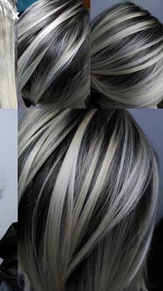 79 Best Gray Hair Highlights Images On Pinterest In 2019 Short