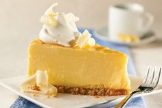 <i>Jell-O</i> Lemon Instant Pudding adds flavour and helps to make a firmer cheesecake.