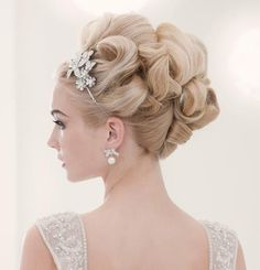 Princess hair for wedding, wedding updo, special event hair, prom hair - Wedding Time Business Hairstyles, Wedding Hairstyles For Long Hair, Wedding Hair And Makeup, Formal Hairstyles, Bride Hairstyles, Hair Makeup, Glamorous Hairstyles, Natural Hairstyles, Bridal Makeup