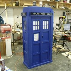Tardis Bookshelf with Sound and Lights instructables