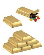Gold Bar Favour Boxes - Pack of 12
