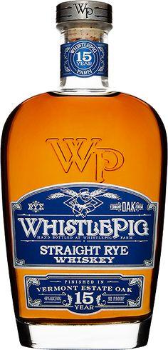 WhistlePig 15 Year Rye Whiskey | Vermont Estate Oak