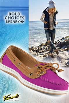 Bold choices. The latest styles  from Sperry ,like the Firefish canvas pictured, are daring, vivid, and adventurous....just like you. Since 1935, Sperry has built the tools for life's adventure, and since 1938 Vincent's has brought the expedition to your door step. Take a voyage today.
