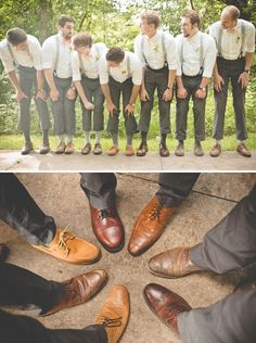 Groom style, different wing tip shoes. Image: Dust Studios