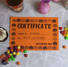 Free printable halloween certificates halloween cards jack o free printable certificates for halloween yelopaper Image collections