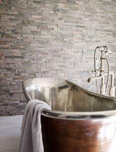 Roane Quartzite Maxi Splitface Bathroom Ideas Whitegrey Tileswall