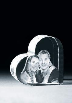Foto im Glas – Herz mit Hintergrund