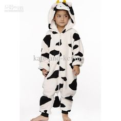 Cheap Cow Costume - Cute Cosplay Pajamas Milk Cow Costume Cartoon Children Coral Online with $20.62/Piece | DHgate #ChickfilAMom