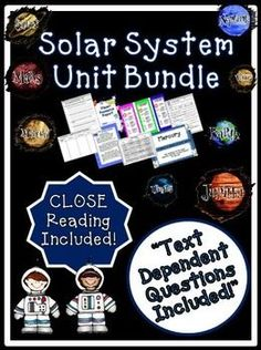 Solar System Unit ~ Close Reading ~ Text Dependent Questions : We have developed this Common Core aligned complete Solar System Unit with CLOSE Reading passages, text dependent questions, and essential questions that contains everything needed to teach a rigorous unit on the solar system and planets.