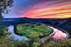 Kleine Saarschleife klein saarschleif, germany hamm, natur, travel place, beauti farm