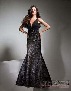 TONY BOWLS TBE21370 Chiffon Sequin Gown Black/Nude $495 FREE WORLD DELIVERY * FREE GIFT WRAPPING * FREE RETURNS * 100% QUALITY ASSURANCE GUARANTEED..FOLLOW US ON POLYVORE! WE HAVE JUST BEEN HONORED WITH THE OFFICIAL BLACK SEAL ALONG WITH GUCCI & OTHER GREAT COMPANIES! SAVE $55.00 ON THIS GOWN UNTIL DEC 21st!