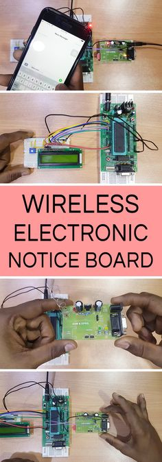 This article explains you how to design a Wireless Electronic Notice Board using GSM technology. The project displays the data on LCD whatever we sent from the mobile.