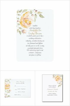 Watercolor Rose Wedding Collection