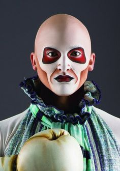 """One of the characters from Cirque du Soleil's """"Quidam"""". I loooove cirque makeup"""