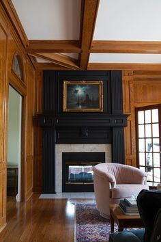 Black Fireplace and