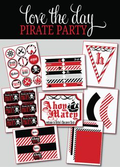 Pirate Party PRINTABLE DIY Custom FULL Birthday by by lovetheday, $35.00