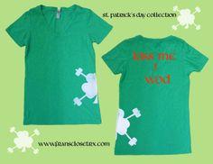 Kiss me I WOD St. Patrick's Day Crossfit tee.  www.fransclosetrx.com